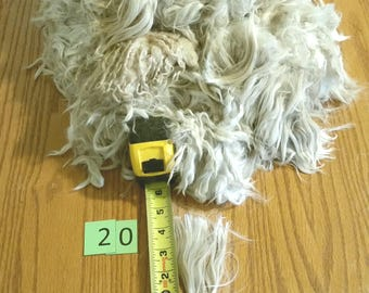 2# 2 oz white raw suri alpaca #20