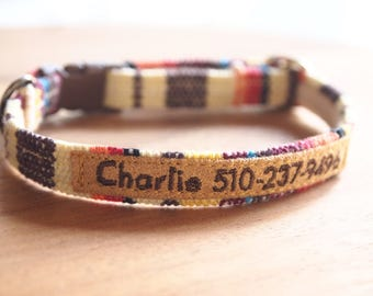 Personalized Colorful Breakaway Cat Collar