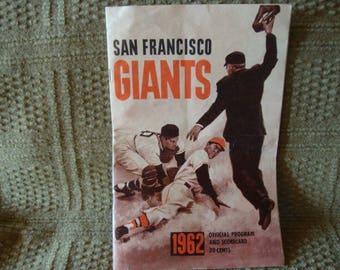 SF Giants 1962 Official Program and Scorecard. Rare