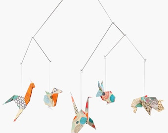 NEW!!! Baby mobile / Zoo Origami Mobile: TOKYO - crib decoration - Nursery decoration - birth gift