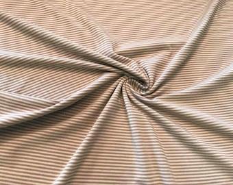 Cotton jersey Striped Beige/brown