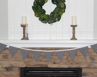 Buffalo Check, Plaid Decor, Spring Bunting, Summer Bunting, Summer Decor, Nursery Decor, Modern Farmhouse, Gifts for Her, Farmhouse Style