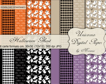 halloween sheets, ghost decorations, Boo Boo, Scrapbooking, Paper crafting, digital collage sheet, Halloween seamless pattern, Creepy Card