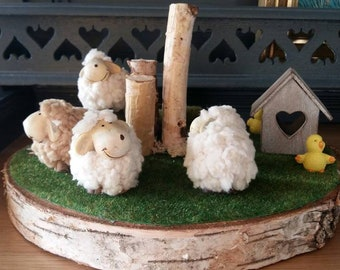 The sheep in the garden spring Decoration was