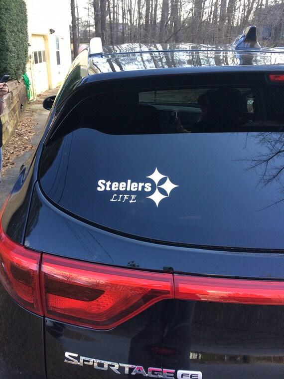 Pittsburgh steelers car window decal steelers cup decal