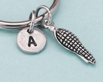 Corn keychain, corn charm, farming keychain, farming charm, personalized keychain, initial keychain, customized, monogram