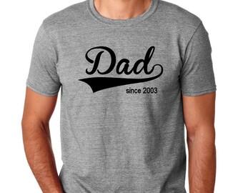 Personalized Dad tshirt with established year