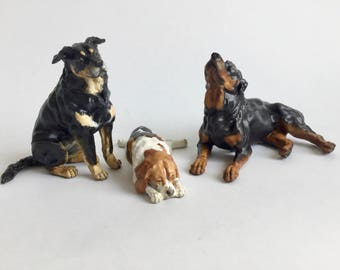 Custom Posed Dog Sculpture | 3D Printed Hand-painted | Pet Portrait Dog Figurine Statue Memorial | Pure Mix or Rescue Breed | Urn Figurine
