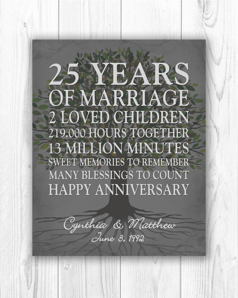 Wedding Anniversary Gift Ideas By Year: 25th Anniversary Gift 25 Year Anniversary Gift 25th Wedding
