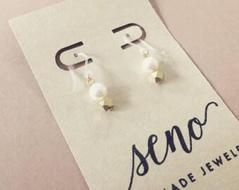 Swarovski pearl earrings, metal beads, gold filled hooks, plastic hooks available.