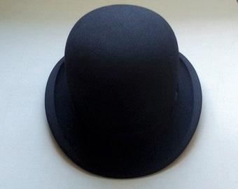 Vintage Bowler Hat Black Woodrow of Picadilly London Gentleman's Bowler