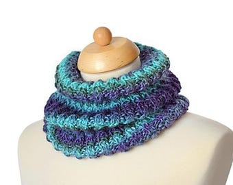 Cowl Knit Pattern, Neck Warmer Pattern, Gift For Women, Tamara