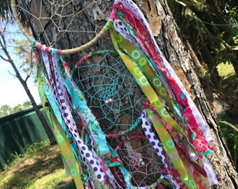 Colorful boho chic dream catcher