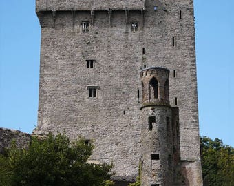 Ireland Decor, Irish Castle, Blarney Castle, Wall Art, County Cork, 8 x 10 Photograph, Wall Decor, Fine Art Photo Gray Castle MacCarthy Clan
