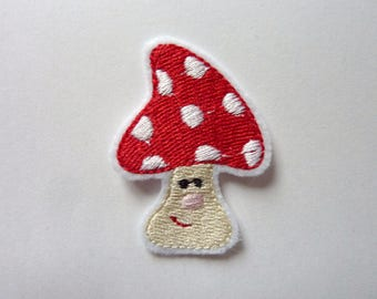 Applied fusible patch embroidery patches mini mushroom