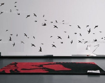 23 Flying Birds Wall Art Sticker