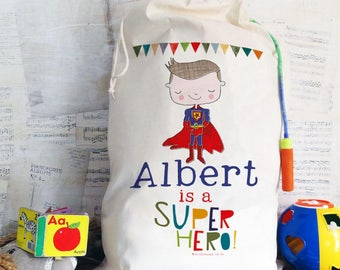 Large Laundry Bag, Personalized Summer Camp Bag, Kids toy storage, Superhero, princess, Childrens Room, laundry bag, Nursery, overnight bag