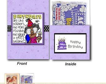 DIGITAL PRINTABLE Boogers Birthday Popcorn Card