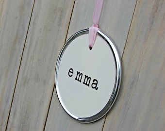 Personalized name tag sign