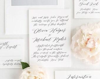 Olivia Wedding Invitations - Sample