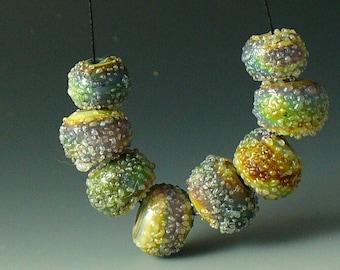 Lampwork beads/SRA lampwork/beads/raku/frit/organic/earthy/