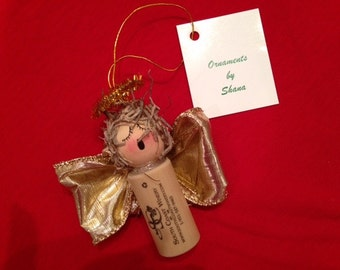 Cork Angel Ornament