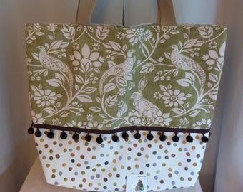 Shopper, tote, gift, holiday bag,bespoke,handmade