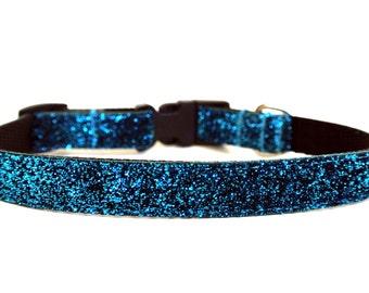 "Turquoise Dog Collar 5/8"" Small Dog Collar"