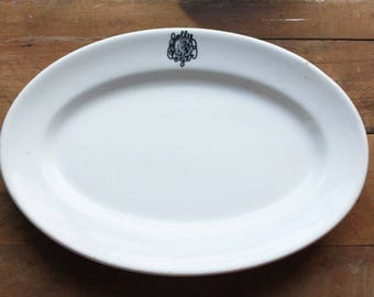Vintage Jolly Roger Ironstone Platter, Restaurantware, Bailey Walker China