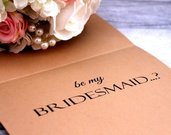 Announcement Will You Be My Bridesmaid Cards -Will you be my Bridesmaid Card - will you be my bridesmaid card - Personalized - Maid of Honor