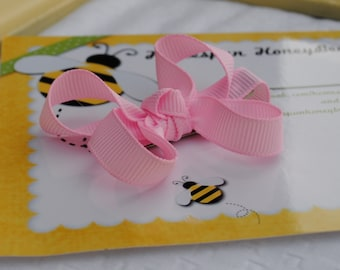 Baby Hair Clip Pink Hair Bow Choose Any Shade of Pink Tiny Baby Bow Clip Boutique Bows Infant Hair Clip Baby Toddler Bows No Slip Hair Clip