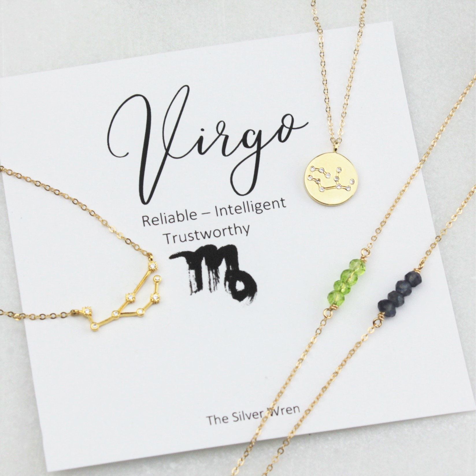 pin gift zodiac virgo astronomy jewelry necklace