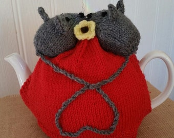Love Heart with mice Tea Pot Cosy