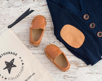 Leather Baby Tan Loafers