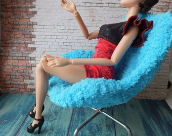 SALE! 1:6 Barbie Doll Arm-Chair Light green