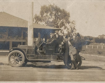 Real Photo Postcard  of antique automobile