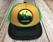 "Toddler Trucker Hat with ""Climb Higher"" Patch..."