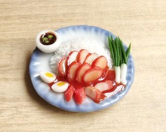 Miniature Roasted Pork BBQ,Miniature Steak,Miniature Pork,Miniature food,Dollhouse food,miniature BBQ,Miniatures