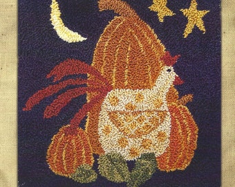 Hooked on Rugs - Autumn Harvest - Punchneedle Embroidery Pattern - Bits and Pieces by Joan
