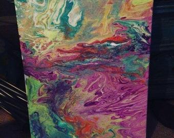 Amplitude for rhythm, acrylic painting