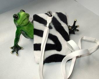 phone case or camera, belt, Zebra