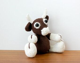 Crochet Brown Cow