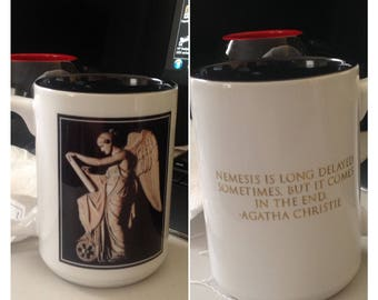 Custom Coffee Mug with Greek Goddess Nemesis