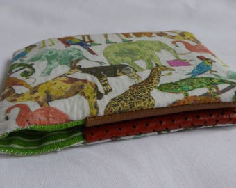 Oyster card holder with a Zoo animal print. Great for housing a Bus Pass too!