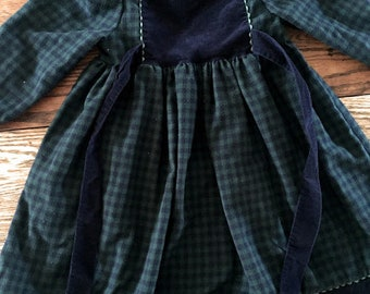 Vintage Frances Johnston for Simi Plaid Dress