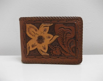 Tooled Leather 70s Wallet