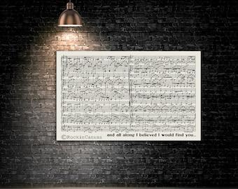Sheet music art Overlaping First dance sheet music notes First dance wedding sheet music Mixed Media Old Music Sheet, Vintage Wall Sign