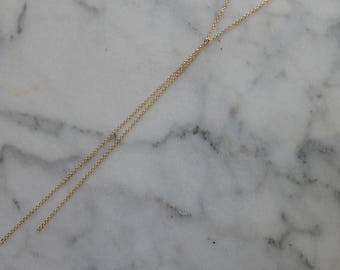 Simple Gold Chain Lariat Necklace | Delicate Y necklace Long Lariat Necklace Gold Necklace Long Lariat Gold Y Necklace Gold Lariat Simple