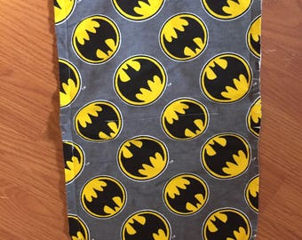 Batman flannel burp cloth