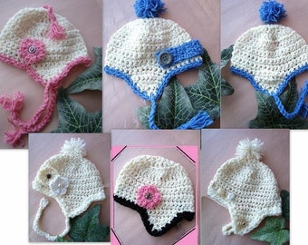 CROCHET PATTERN, number 54 Hat, newborn to adult  ok to sell your finished hats, instant download